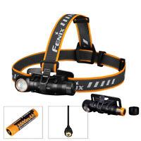 Fenix HM61R USB Charging LED Headlamp Flashlight Red Light 1200LM 3500mAh 18650