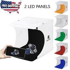 Photo Studio 2 LED Panels 6 Color Backdrop Photography Lighting Box Cube Kit