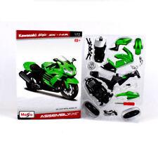 DIY Motorcycle Model 1/12 Autobike ZX-14R Maisto Car Toy Kawasaki Green Gift