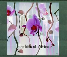 Ghana 2014 MNH Orchids of Africa 1v S/S Flowers Flora Butterfly Orchid