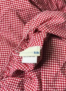 Pottery Barn Kids RED & White GINGHAM Check Baby Crib Fitted SHEET (choose Qty)