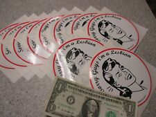 10 Qty SORRY GUYS I'M A LESBIAN bumper stickers wholesale novelty gay humor lot