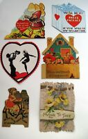 (1) Lot of 8 Vintage Valentines w/ Many Different Subjects    *