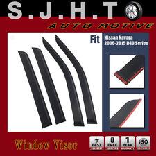 4x Weather Shield Weathershield Window Visors for Nissan Navara D40 Series 06-15