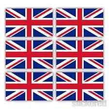 6 x UNION JACK UK FLAG SMALL CAR BIKE HELMET WINDOW VINYL STICKERS DECALS 25mm