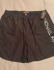 Michael Kors Logo Swimsuit Trunks Shorts Black  Size L