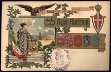 cartolina militare 55° REGGIMENTO FANTERIA BRIGATA MARCHE