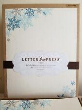 Winter Snowflake Letter Impress Oh-So-Chic Invitations 100 Count Gartner Studios