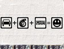 Turbo Chip  Fun  Aufkleber Auto Sticker TDI Boost
