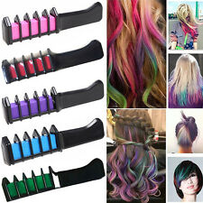 Temporary Dye Colour Hair Chalk Soft Pastels Cream Comb Salons Hair Brush Fad LS