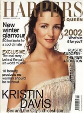 Harpers & Queen January 2002, Kristin Davis cover