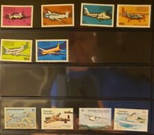 Grenada Grenadines Aircraft & Aviation Stamps Lot of 12 - MNH - See List