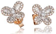 Diamond Butterfly Earrings 0.90ct F VS in 18ct Rose Gold