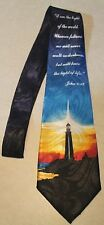 Mens Black Christian Neck Tie I Am The Light Of The World On A New Neck Tie!