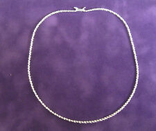 "New Textured  17"" Silver Collar Choker Neckwire Necklace Easy Hook Clasp (CT7)"