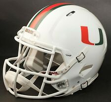 MIAMI HURRICANES NCAA Riddell SPEED Full Size Authentic Football Helmet