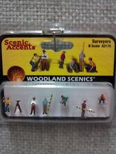 Woodland Scenics figures people SURVEYORS N Scale #2175 A2175 Model Railroad
