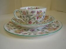 Minton Hadden Hall Cup Saucer Plate Trio Fine Bone England China 1451 Flowers