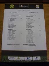 04/08/2010 Farbe Teamsheet: Borussia Dortmund vs Manchester City [Sommer Cham