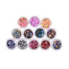 Uñas GLITTER lentejuelas Mix ronda 3D Nail Art decoración consejos manicura#