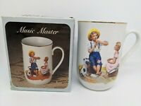 1982 Norman Rockwell Paintings Gold Trimmed Coffee Porcelain Mug Music Master