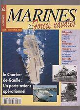 MARINES & Forces Navales N°80 FIN DES U-BOOTE /CHARLES DE GAULLE /1e PORTE AVION