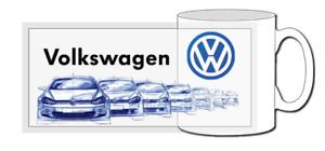 VW golf GTI mug, pop icon, mk1, mk2, mk3, mk4, mk5, evolution, R, TDI, turbo,