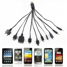 10 in 1 USB Universal Ladekabel Ladegeräte für fast alle Handys Mini Micro