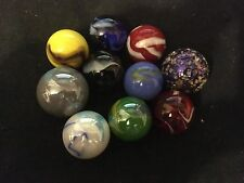 HOM Glass Marbles 10 x all different stunning collectable marbles set1 22mm 25mm