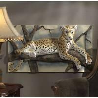 "Leopards Lair 33"" Wide Three Dimensional Design Toscano Sculptural Wall Frieze"
