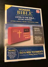 Wonder Bible Audio Player As Seen on TV Listen to the Bible Anytime NEW