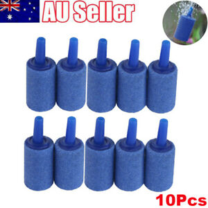 """10Pcs 1"""" Aquarium Fish Tank Aerator Air Stone Diffuser Oxygen Bubbles Pump Blue"""