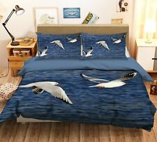 3D Seagull Flying Sea R738 Animal Bed Pillowcases Quilt Duvet Cover Queen Kay