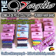 Gomas Coleteros de Pelo Colores Forma Trenzado Cadena Hair Rubber Band Scrunchie