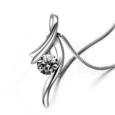 Sterling silver pendant necklace wedding jewelry