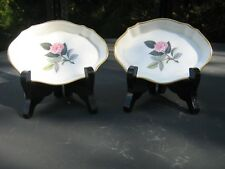 """TWO 4.5"""" WEDGWOOD  SMALL  OVAL PIN   DISHES  HATHAWAY    ROSE DESIGN"""