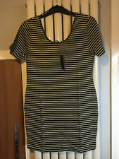 Plus Size Striped Short Sleeve Stretch, Bodycon Dresses for Women
