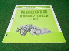Kubota Fs1020 Fs1270 Rotary Tiller Owners Manual