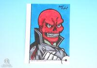 2013 Fleer Marvel Retro Red Skull Artist Sketch Card Brent Ragland Original 1/1