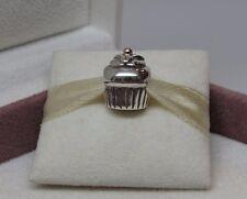 New w/Box RARE Pandora Cupcake RETIRED 2 tone w/14Kt Charm #790417