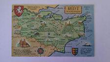 Kent Mapcard Vintage colour postcard 1974