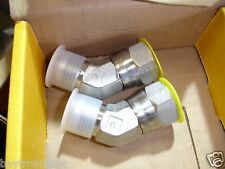 New listing Lot of 2, Hydraulic Fittings Parker 10 V6X-Ss Industrial Fitting Elbow, Tube Ada