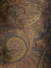 Ralph Lauren Frazier Tracery Brown Paisley King Duvet Cover Archival Collection