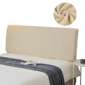 Headboard Slipcover Stretch Bed Head Cover Modern Bedroom Decor Pure Color New