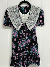 Vintage kokomo kids youth girls dress short sleeve flowered size 7