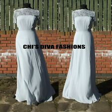 "EX ASOS Lace Insert panelled Maxi Dress Size UK 8, 10, 12, 16, 18  Length 58"""