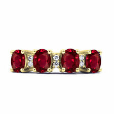 Natural Oval Enhanced Ruby Fine Rings