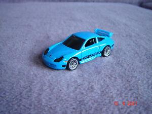 """Hot Wheels Porsche 911 (996) GT3 RS """"FAST FIVE"""" (blau) - neuwertig"""