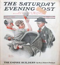 -Rare- 1916 -Norman Rockwell/Baseball Cover- Saturday Evening Post Magazine