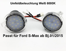 2x TOP LED SMD Runde Umfeldbeleuchtung Weiß Ford S-Max ab Bj.01/2015 (7909)